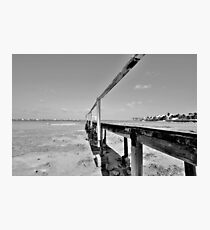 The Old Pier at Montagu Beach in Nassau, The Bahamas Photographic Print