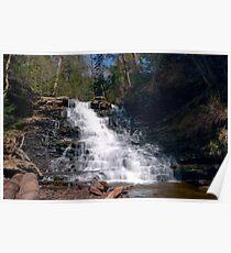 May Sunshine on F. L. Ricketts Waterfall Poster