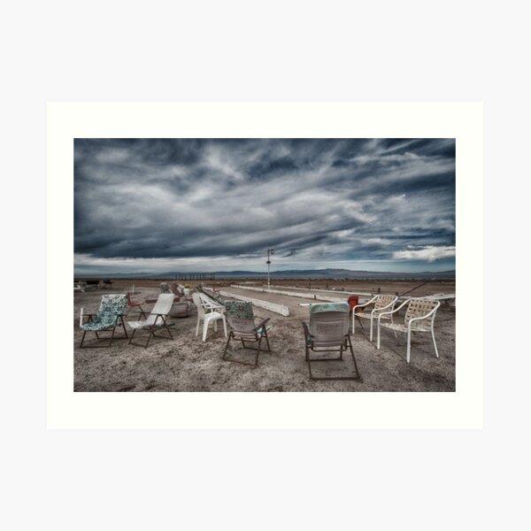 Salton Sea Series: Lounging at the shuffleboard site Art Print