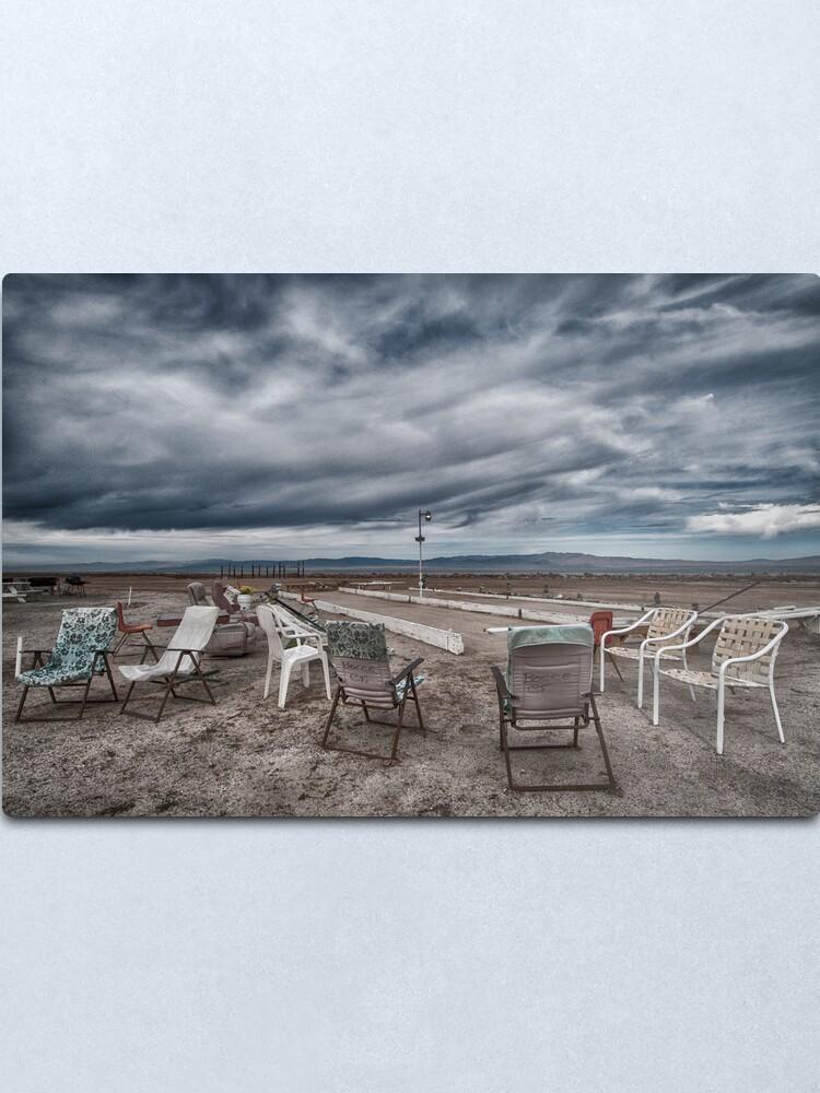 Alternate view of Salton Sea Series: Lounging at the shuffleboard site Metal Print