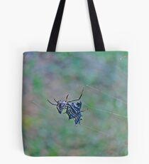 Spined Micrathena Orb Weaver Spider - Micrathena gracilis Tote Bag