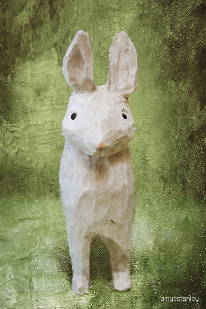 4x6 Vintage-Inspired Rabbit Print by amyestanley