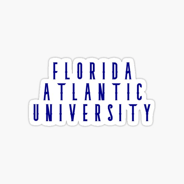 Florida Atlantic University Vinyl Decal Laptop Water Bottle Car Scrapbook Sticker - 00031A