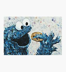 Cookie Monster / Sesame Street / inspired / Oils 2014 Photographic Print