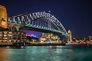 Sydney Harbor Bridge at Night by Raymond Warren