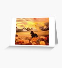 Nations' Horse Two Greeting Card