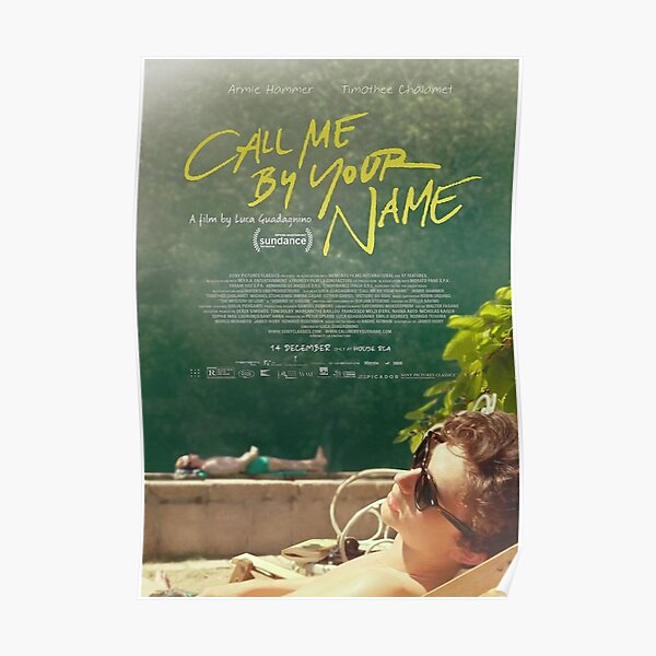 Call Me By Your Name Movie' Poster Poster