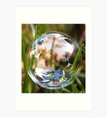 Washing line in a bubble Art Print