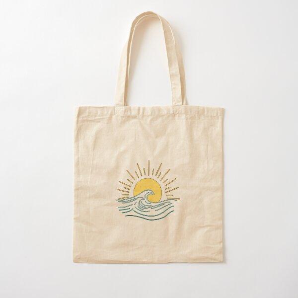 Sun & Wave Cotton Tote Bag