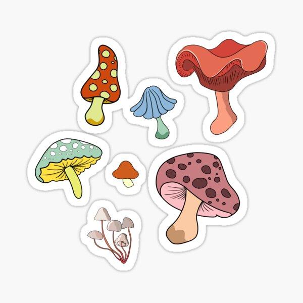 mushroom cluster sticker pack Sticker