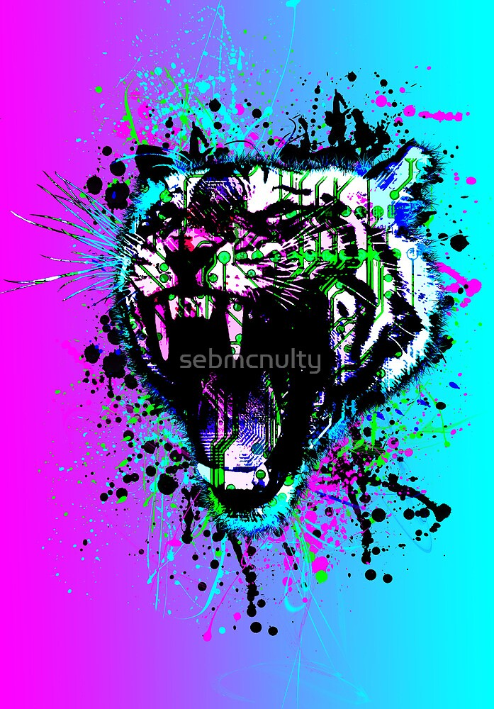 digital tiger  by sebmcnulty