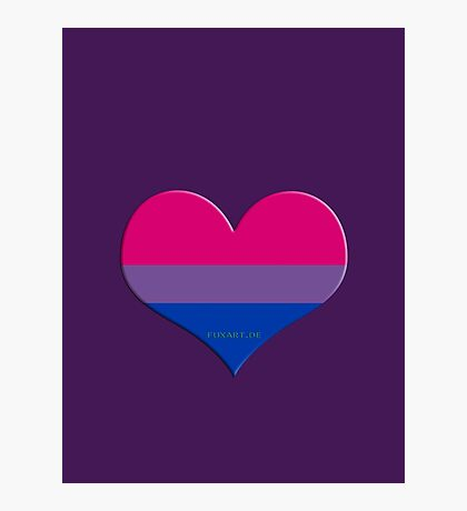bi heart Photographic Print