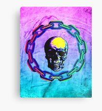 Skull Chain Metal Print