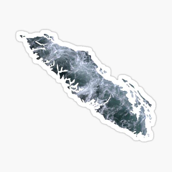 Vancouver Island Ocean Waves Sticker