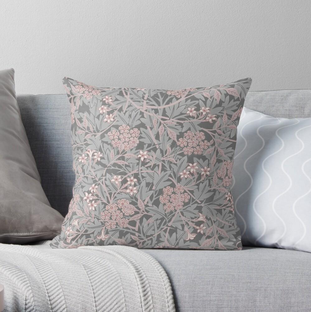 Jasmine by William Morris, 1872 Throw Pillow