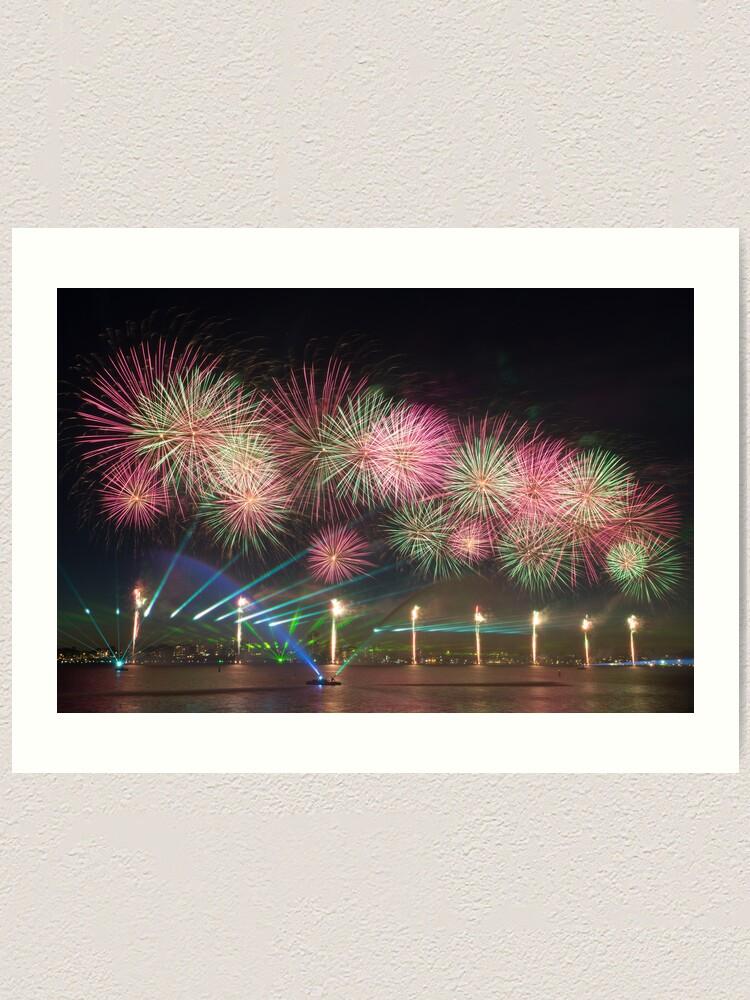 Alternate view of Australia Day Fireworks on the Swan Art Print
