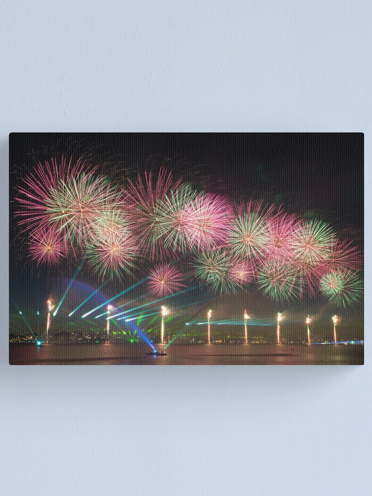 Alternate view of Australia Day Fireworks on the Swan Canvas Print