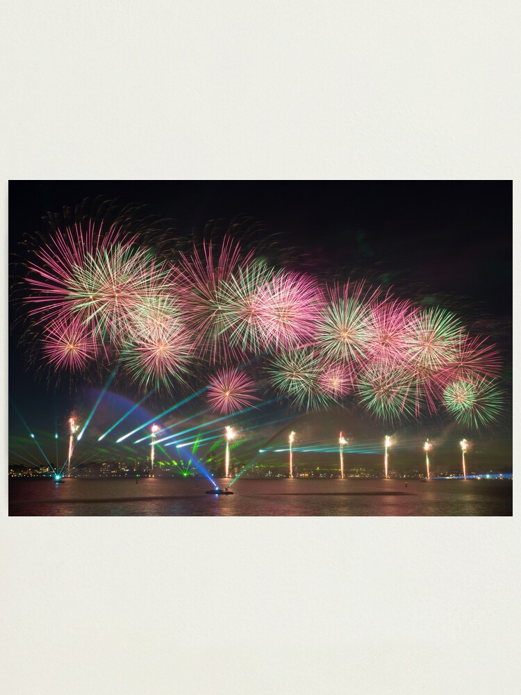 Alternate view of Australia Day Fireworks on the Swan Photographic Print