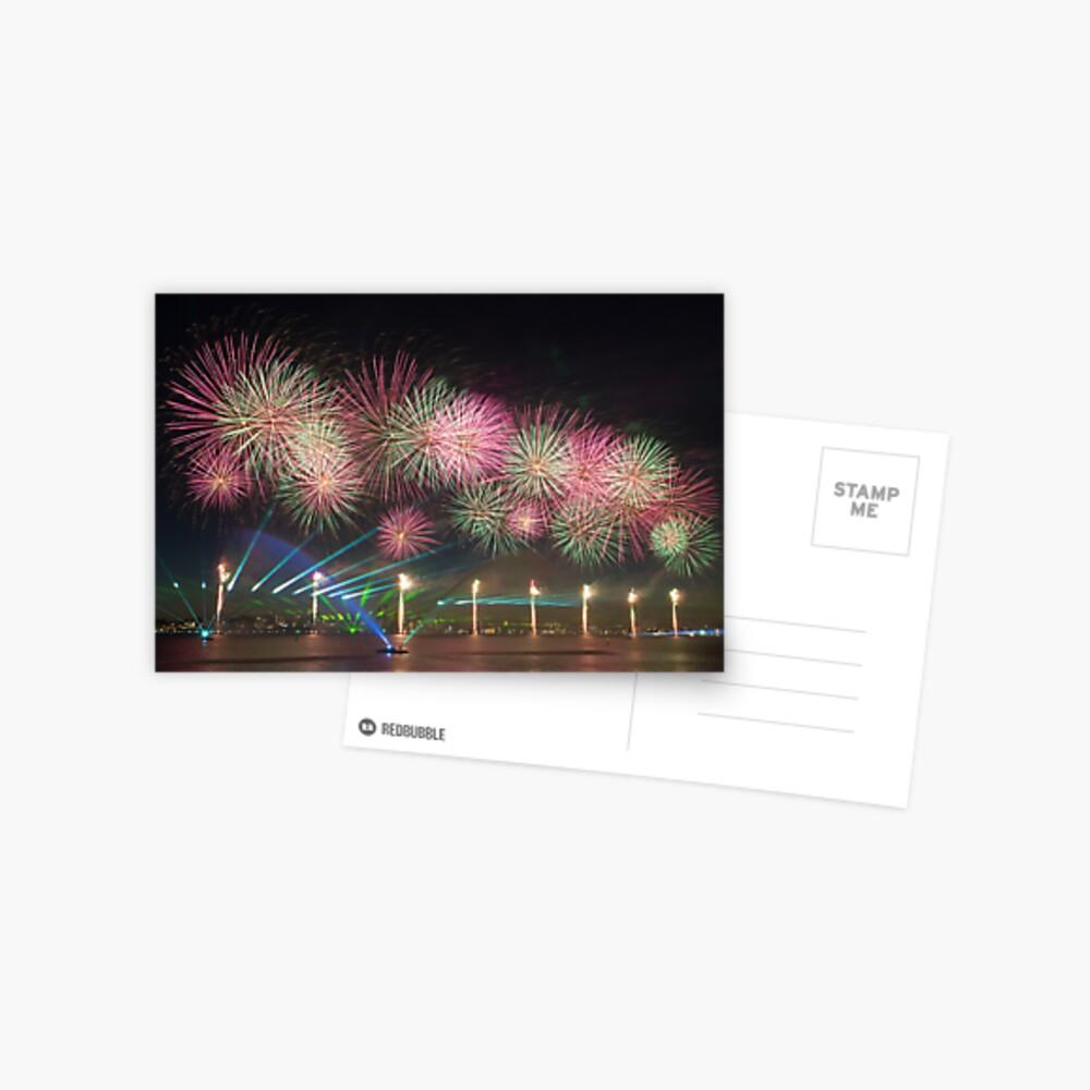 Australia Day Fireworks on the Swan Postcard