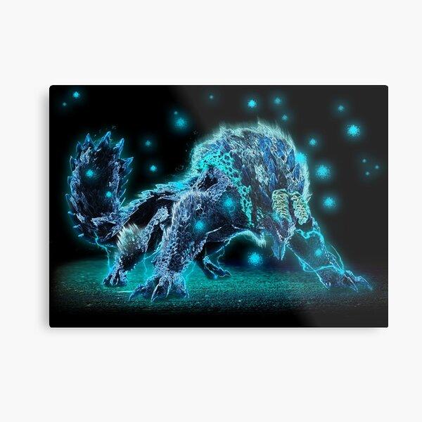 Neon Zinogre Subspecies MHW 1 Metal Print