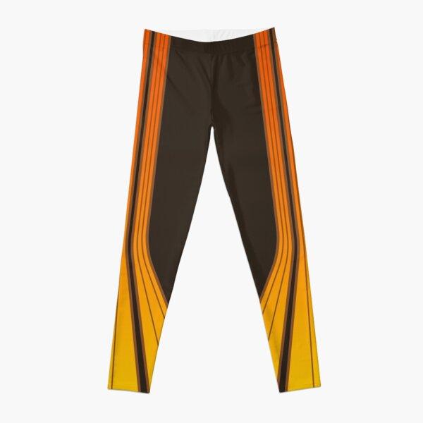 Retro Lines - Orange Flame Leggings