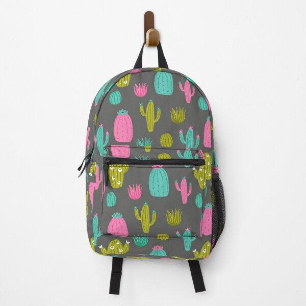 Cute Cactus Dark Backpack