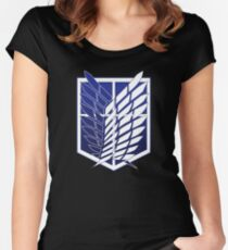 Attack On Titans Survey Corps Logo Women's Fitted Scoop T-Shirt