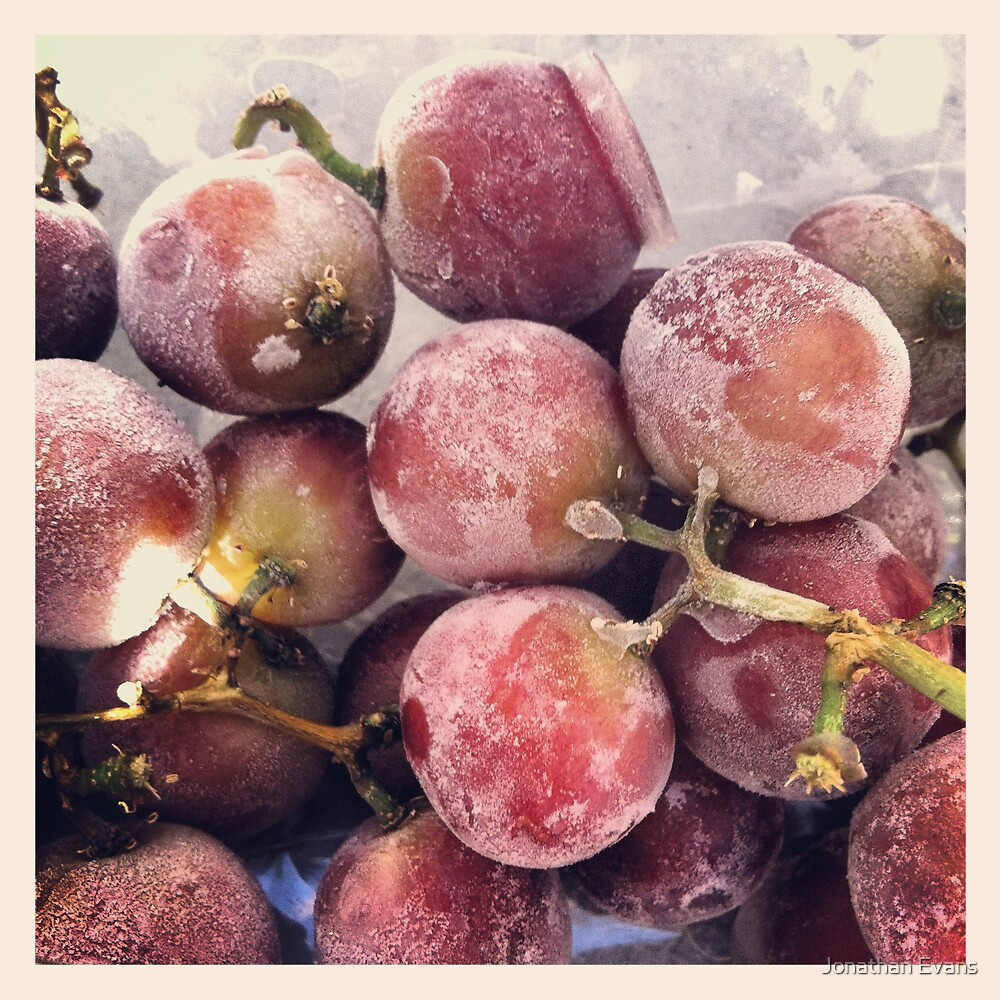 Frozen Grapes by Jonathan Evans