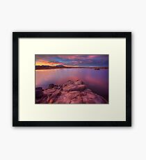 Willow Lake Pink Blue Framed Print