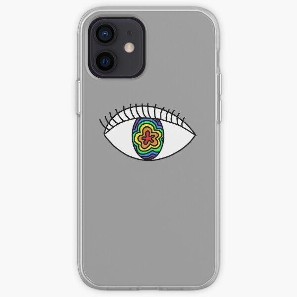 Rainbow Eye Doodle iPhone Soft Case