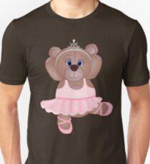 Cute Cartoon Teddy Bear Ballerina Unisex T-Shirt