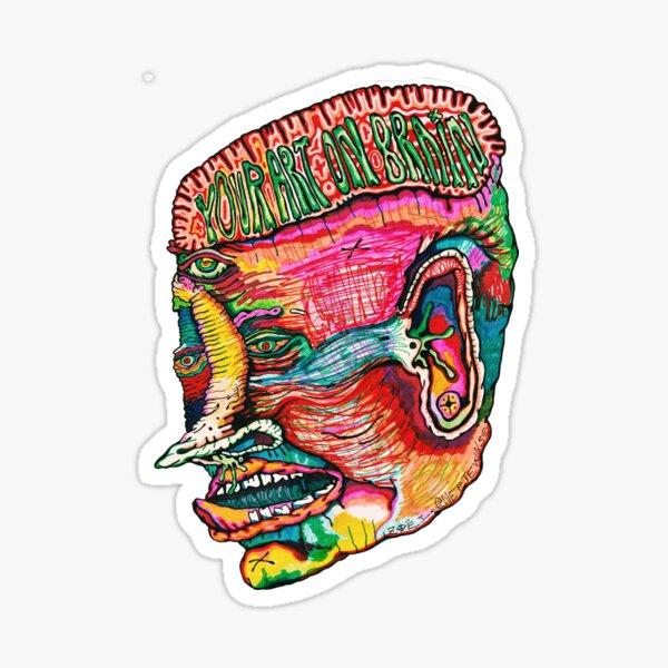 Your Art On Brain Sticker