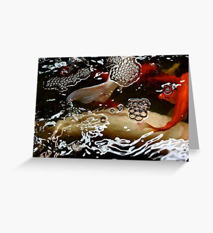 Abstract - Koi  Greeting Card