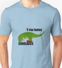 T-rex hates shoelaces Unisex T-Shirt