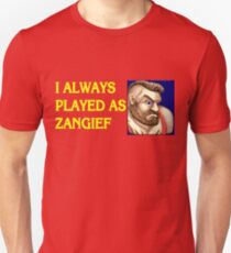 Street Fighter 2 Memories ZANGIEF Unisex T-Shirt