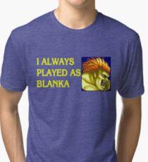 Street Fighter 2 Memories BLANKA Tri-blend T-Shirt