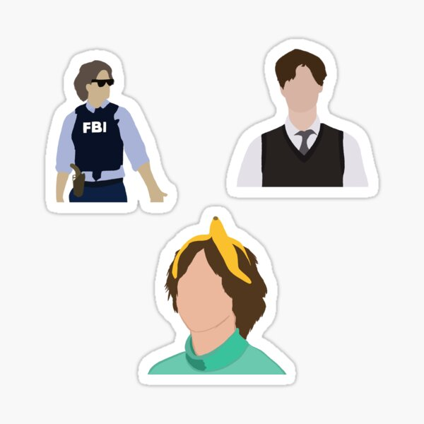 Matthew Gray Gubler 3PACK Sticker