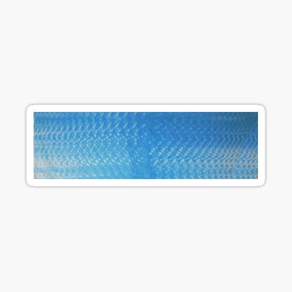 Sky Blue Shibori Scales Sticker