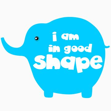 I am in good shape funny slogan tee shirts ( time to loss weight )  by derickyeoh