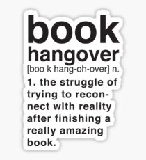 Book Hangover Meaning Sticker