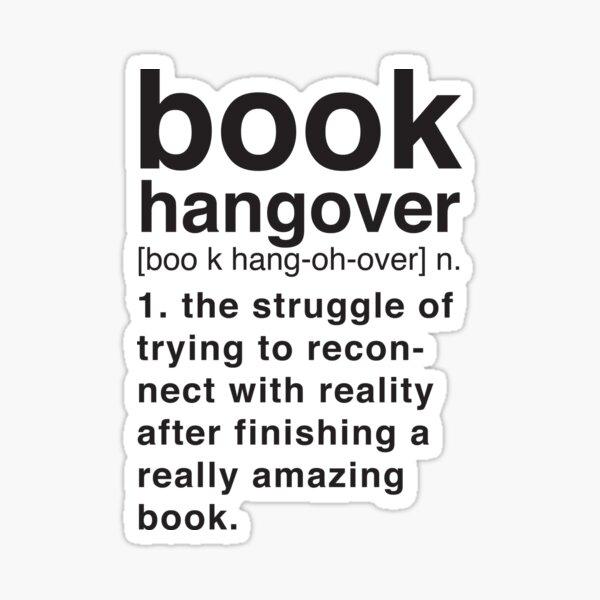 Book Hangover Significado Pegatina