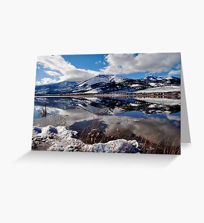 Slide Mountain Reflection Greeting Card
