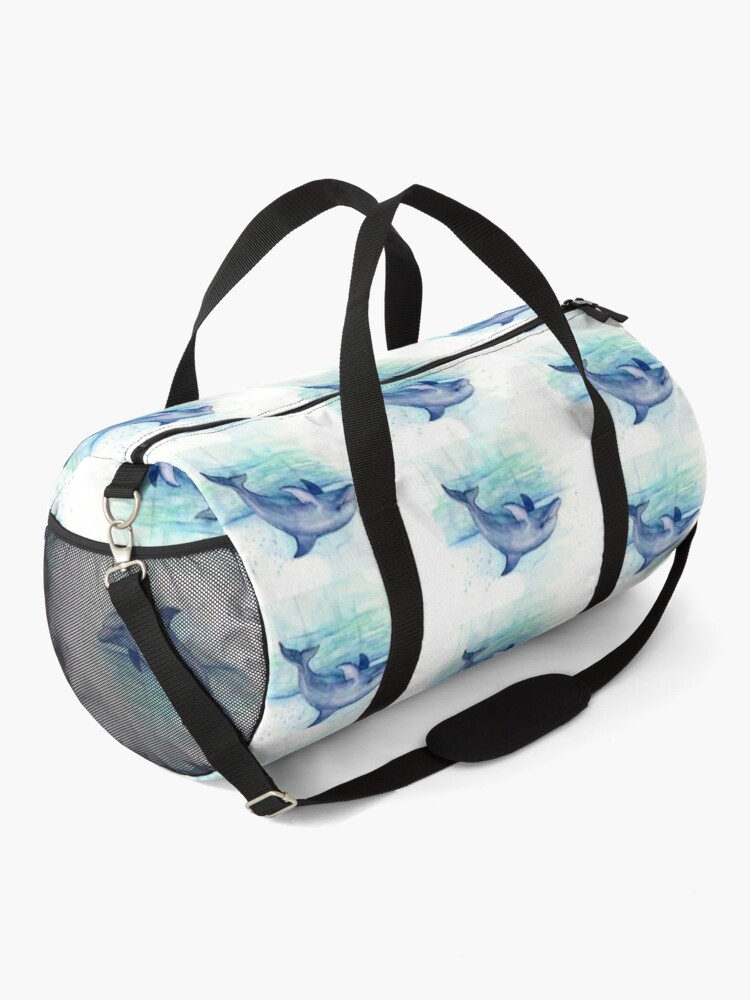 Alternate view of Dolphin Watercolor Duffle Bag