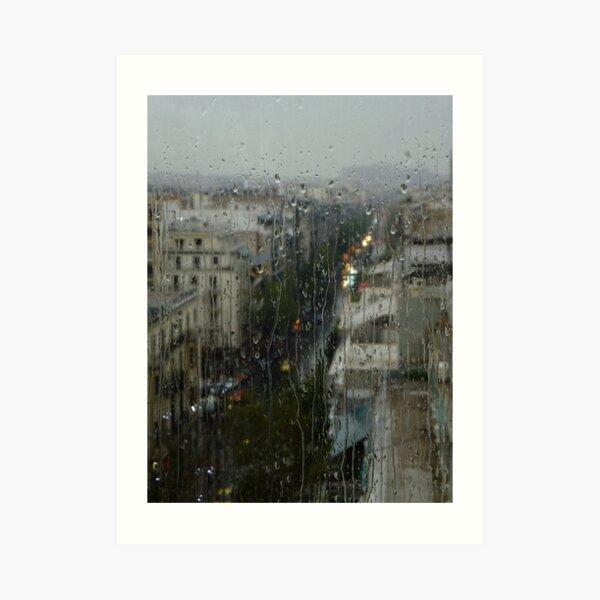 Rain Over Athens Art Print