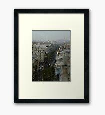 Rain Over Athens Framed Print