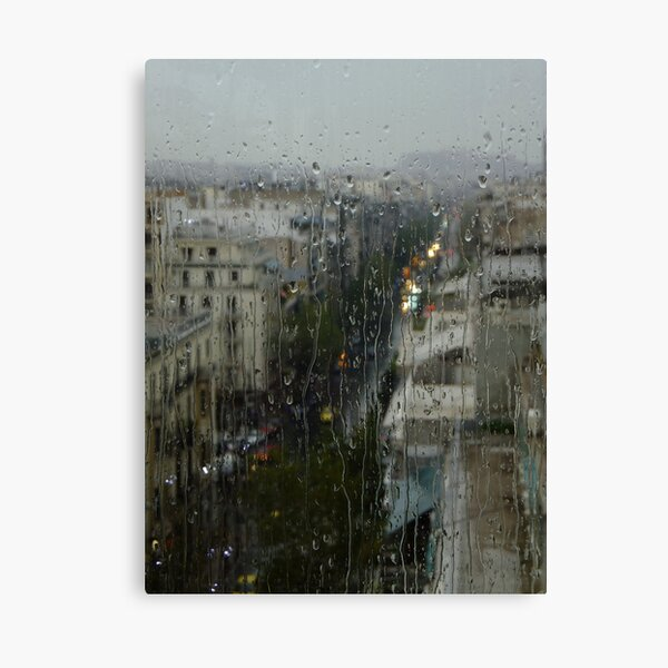 Rain Over Athens Canvas Print
