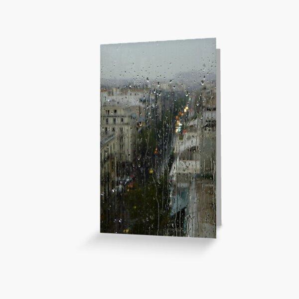 Rain Over Athens Greeting Card