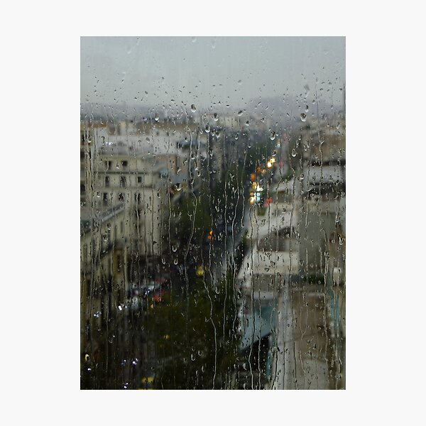 Rain Over Athens Photographic Print