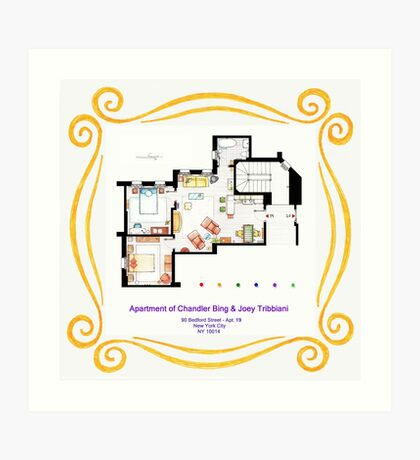 """Apartment of Chandler & Joey from """"FRIENDS"""" Art Print"""