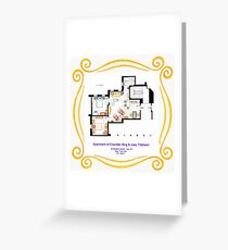"""Apartment of Chandler & Joey from """"FRIENDS"""" Greeting Card"""